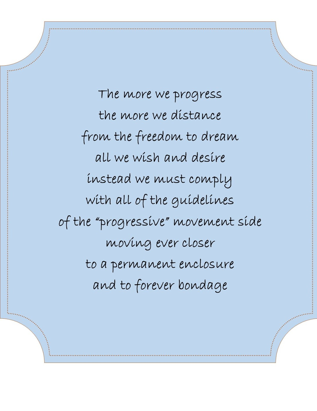Distance Poem